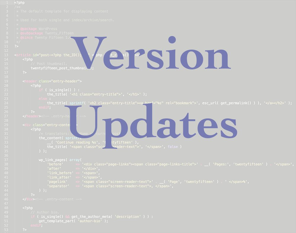 Updating your code versions